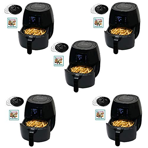 Avalon Bay Air Fryer Digital Display Stainless Steel Healthy Appliance (5 Pack)