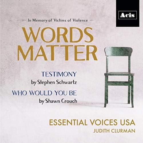 Essential Voices USA, Judith Clurman, James Cunningham & Daniel Miller