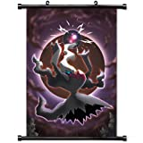 Home Decor Japanese Lovely Animation Art Cosplay Poster with Darkrai Pokemon Anime Wall Scroll Poster Fabric Painting 24 X 36 Inch (60cm X 90 cm)