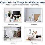 HomeZens Portable Plug in Air Purifier for Viruses and Bacteria, UV-C Light Sanitizer Eliminate and Sanitize Germs & Odor, Keep Air Clean for Bedroom, Kitchen, Bathroom, Pet Area, Nursery, Small Rooms 15 🍃 UV air purifiers are designed to use UV-C light to inactivate airborne pathogens and microorganisms like mold, bacteria and viruses. Powerful UV-C light can kill up to 99.9% of germs and bacteria without any additional liquid or chemicals. 🍃 This 7 inch small wall pluggable air purifier is perfect for the kitchen, litter box room, bathroom, or children's room. Just plug it into any 120V outlet and 180 degrees rotatable plug for a different angle, the light will turn on and work, effectively sanitize a 10㎡ room it within 2h to get the best result. 🍃 UV light air purifiers disinfect the hard to reach corner of your room, The top cover for full protection design and fully sealed air purification design works in photolysis cavity, no radiation and ozone leakage, no need to be away from the room when working.
