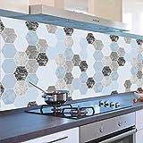 Carrelage Adhesif Mural 60X300Cm Autocollants De Cuisine Imperméables À L'Huile...