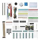 DEYUE Arduino Electronic Fun Kit Bundle | Kit de componentes electrónicos básicos | para Arduino, Raspberry Pi, STM32 | Módulo de fuente de alimentación, adaptador de alimentación, cable de puente y …