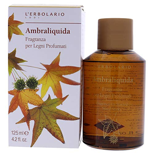 L  erbolario Ambraliquida fragranza olio per bastoncini profumati