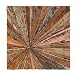 Teak Abstract Wall Decor - Square