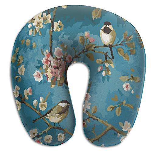 Almohada de viaje en forma de U Pintura al óleo Pájaros en forma de U Almohada de viaje en U Almohada para el cuello Almohada Salud Almohada en U suave con material resistente para hombres / mujeres