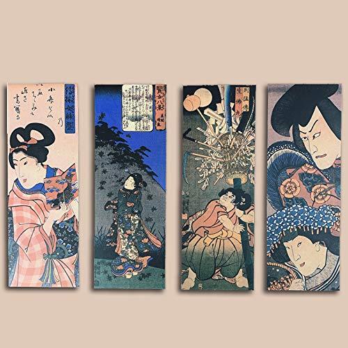Ukiyo-e Aangepaste Schilderij Stickers Retro Golven Kunst Gitaar Skateboard Stickers Waterdichte Bagage Stickers