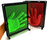 Matty's Toy Stop Deluxe Extra Large (10' x 8') 3D Pin Art Sculpture Toys NEON Red & NEON Green Gift Set Bundle - 2 Pack
