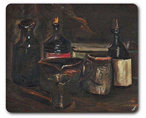 1art1 Vincent Van Gogh - Stillleben Mit Steingut, Flaschen Und Schachtel, 1884 Mauspad 23 x 19 cm