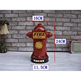 ZHAJIAN Décorations pour la Maison Hydrant Tirelire Tirelire Maison Décoration Résine Artisanat Décorations Pièces Sécurité