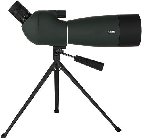 GHCX Haute Puissance Télescope Astronomique Monoculaire en Plein Air Vision Nocturne en Haute Définition Portable avec Trépied (25-75x Zoom)
