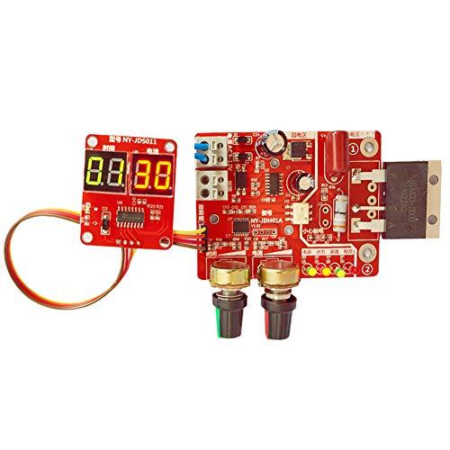 Tablero de control del soldador por puntos NY-D01 100A pantalla digital Spot soldadura tiempo controlador actual panel Timing Amperímetro rojo práctica