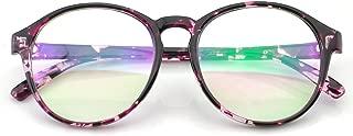 PenSee Womens Oversized Frame Inspired Horned Rim Clear Lens Circle Eyeglasses