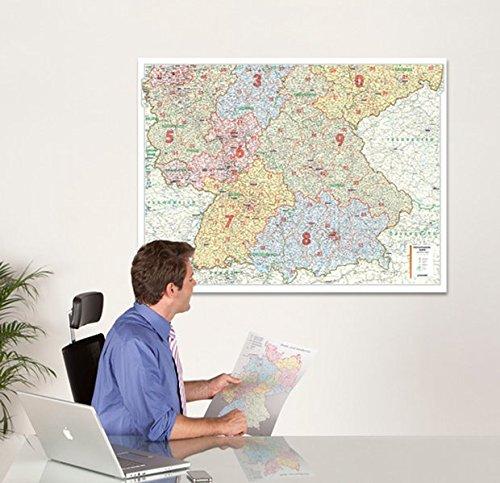 Bacher Postleit-Karte Deutschland, Posterkarte, Süd