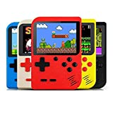 GSH Sup Video Game With Battery Handheld Console Classic Retro Video Gaming Player Colourful LCD Screen USB Rechargeable Portable Game Console with 400 in 1 Classic with TV Output with Mario Games, DR Mario, Turtles, Super Mario, Contra Best Toy Gift for Kids Mix Colours