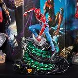 Escultura del Modelo De Personaje Animado De Marvel Avengers PS4 Spiderman...