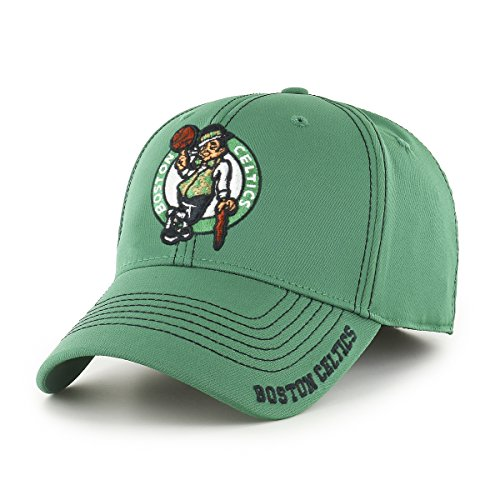 OTS NBA Boston Celtics Men's Start Line Center Stretch Fit Hat, Team Color, Medium/Large