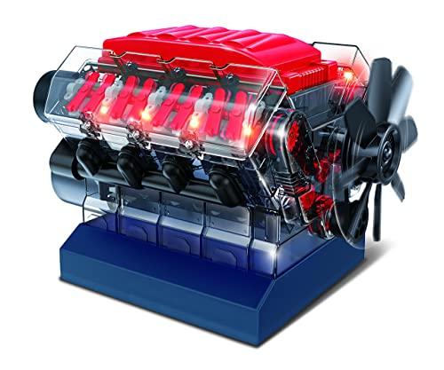 OWI Inc Robotics Vroom! Stem V8 Model Combustion Engine, DIY Educational STEM Birthday Kits Ages 12 and Up