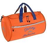 Tommy Bahama Travel Carry Duffle Bag, Orange/Grey/Blue