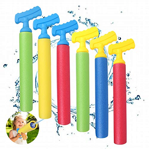 Water Guns Toys for Kids, 6 Pack Super Water Shooter Blaster Gun, Set Up to 30 FT, Squirt Gun Summer Pool Beach Yard and Park Play Toys
