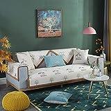 oficina Protector de Sofá Tiro de la cubierta del sofá del estilo nórdico,el escudo del sofá de los ciervos,la funda de sofá de jacquard antideslizante,cómodos finas cubiertas de muebles-beige_