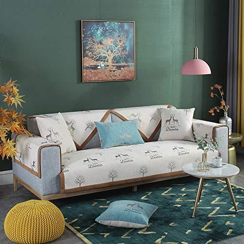 Sofá modular Cubre Sofá Tiro de la cubierta del sofá del estilo nórdico,el escudo del sofá de los ciervos,la funda de sofá de jacquard antideslizante,cómodos finas cubiertas de muebles-beige_70