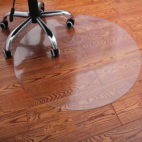 LCZMQRCLMZRQTransparante houtenvloerbeschermingsmatPVC-vloerbedekking Computerstoel Matten Beschermers Kunststof Zacht rond tapijt, Transparen, 140cm