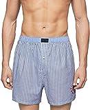 Tommy Hilfiger Men's Underwear Woven Boxers, Navy, Medium