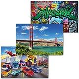 GREAT ART 3er Set XXL Poster Kinder Motive – Car