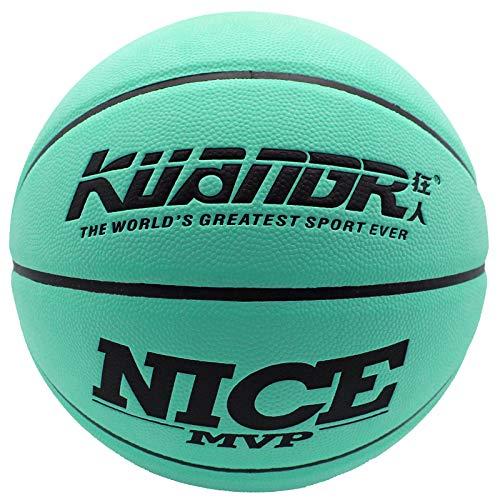 Senston Balon Baloncesto Talla 7 Uso Interior al Aire Libre, Niñas Adultas Balón de Baloncesto Pelota Juego, Cuero Balon Baloncesto