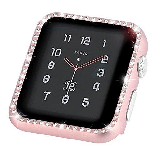 Aottom Funda Apple Watch 40mm Series 5 Protectora, Protectores Pantalla Apple Watch Series 4 40mm, Protector Case iWatch SE/6/5/4 Funda Diamantes de Imitación Case Protección Completo Anti-Rasguños