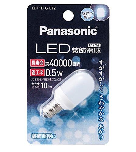 パナソニック LED電球 密閉形器具対応 E12口金 昼光色相当(0.5W) 装飾電球・T型タイプ LDT1DGE12