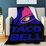 Jocasa Taco Bell Blanket Flannel Fleece Throw Lightweight Cozy Couch Bed Soft and Warm Plush Quilt for Thanksgiving, Halloween, 50'x40' for Kids