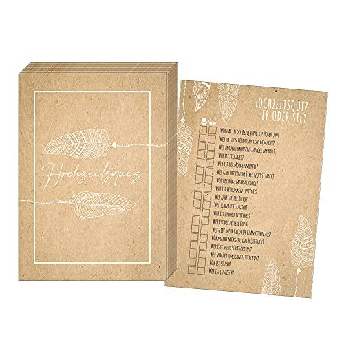 50 Karten Hochzeitsquiz im Boho-Stil, Hochzeitsspiel Braut oder Bräutigam, Hochzeitsspiele für Gäste, Hochzeitsspiel Vintage, Hochzeitsgeschenk Vintage (Boho)