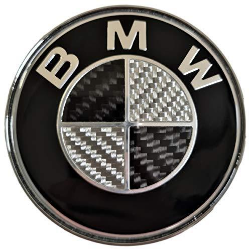 Preisvergleich Produktbild SMP® 74mm Carbon Heckklappe / Kofferraumdeckel Emblem kompatibel mit BMW,  [2-3-4 reihe] 51148219237