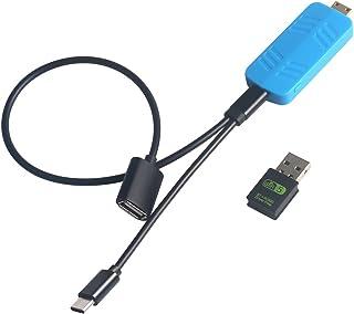 Miracast Dongle, 4K HD HDMI bezprzewodowy wyświetlacz Dongle, 2,4 G i 5,0 G WiFi Display Dongle, z sterownikiem BT 4.0 i A...