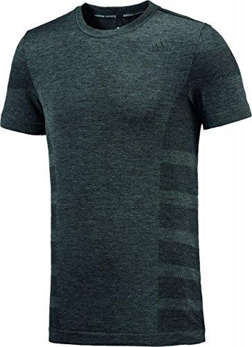 Adidas aS Primeknit m t-Shirt pour Homme L Gris