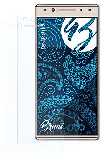 Bruni Schutzfolie kompatibel mit Alcatel 5 Folie, glasklare Bildschirmschutzfolie (2X)