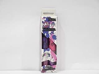 Nail Art Pink and Purple Caviar Duo