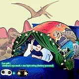 Tienda De Campaña Para Cama Infantil,Carpa De Ensueño, Carpa Para Cama,Carpa Cojin Molon,Carpa Para Niños,Carpa Para Niños Plegable Mágica De Invierno,Navidad Y Regalos De Cumpleaños (dinosaurio)