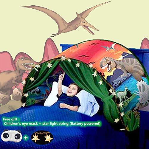 Nifogo Traumzelt,Bettzelt, Dream Tent,Drinnen Kinder, Kid's Fantasy, Kinder Schlafzimmer Dekoration,Geschenke für Kinder (Dinosaurier)