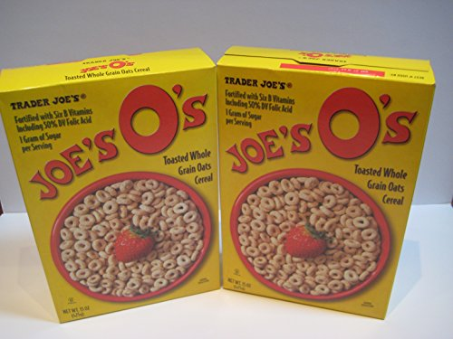 "Trader Joe's Cereal, ""Joe's O's"" Toasted Whole Grain Oats Cereal, 15 Oz Bundle"