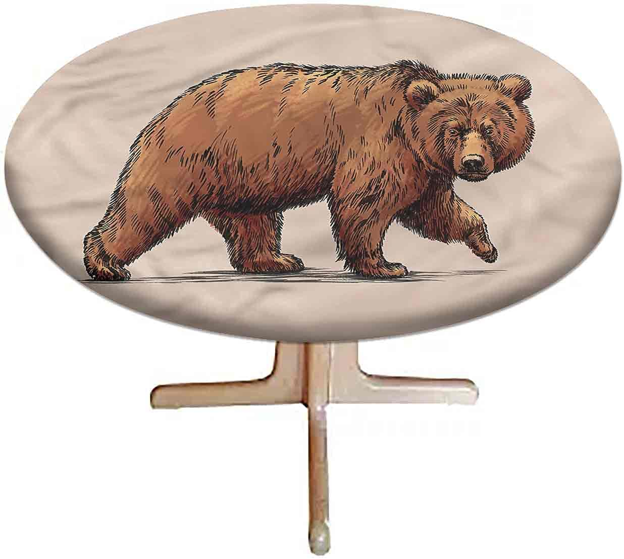 LCGGDB Bear Elastic Limited Special Price Edged Polyester Ink Tablecloth Columbus Mall Fitted W Art