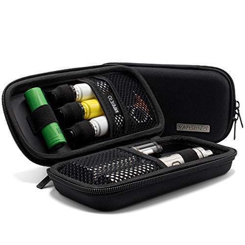 VapeHero® Borca astuccio sigaretta elettronica custodia vapore per liquidi e accessori | inserto extra per batteria 18650 e liquido | antiurto