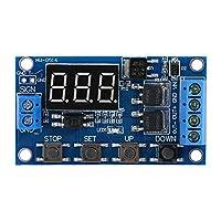 リレーモジュール /オフボードとLED表示DCタイマーリレーの遅延スイッチモジュールの5V-36Vトリガーサイクルディレイタイマースイッチターン 干渉防止