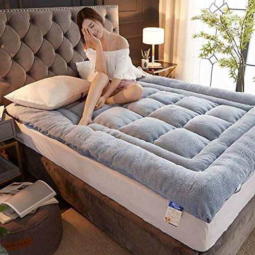 zyl Premium Plush Mattress Mattress Cover Tight Tatami Mattress Protector Breathable Cotton Double Size Futon-B Mattresses 0.9m Bed