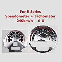 カーボンファイバーレーザースピードメータータコメーターダイヤルステッカー装飾に適合 Mini Cooper F/Rシリーズ (タイプD, R55-R61レーザー)
