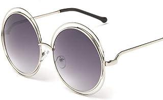 HPPSLT - Redondo Gafas de Sol Polarizadas para Hombres y MujeresMetálico Montura, Gafas de Sol Retro de Metal con Montura Redonda de Tendencia Europea y Americana-2