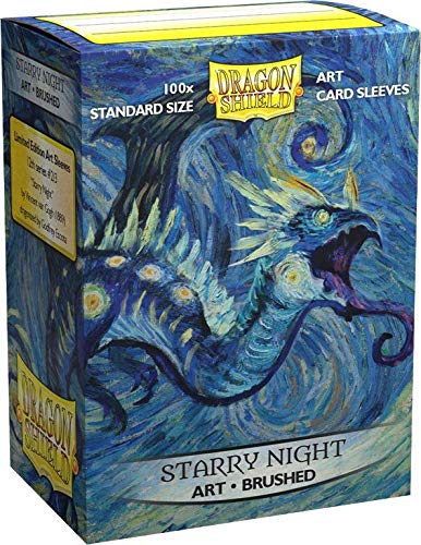 Dragon Shield Sleeves - Brushed Art 100 CT - MGT Card Sleeves - Compatible with Magic The Gathering Card Sleeves Pokémon and Other Card Games - Limited Edition: Starry Night