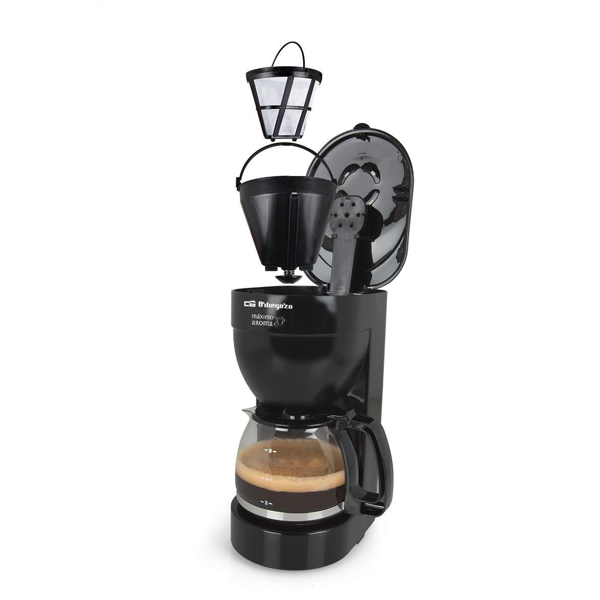 Orbegozo CG 4014 - Cafetera goteo 6 tazas, jarra de cristal de 0,6 litros de capacidad, 650 W de potencia: Amazon.es: Hogar