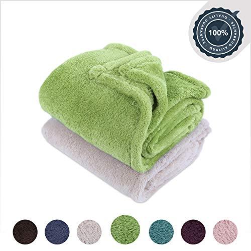 Berkshire Blanket Extra-Fluffy Blanket Plush Throw, Botanical 2